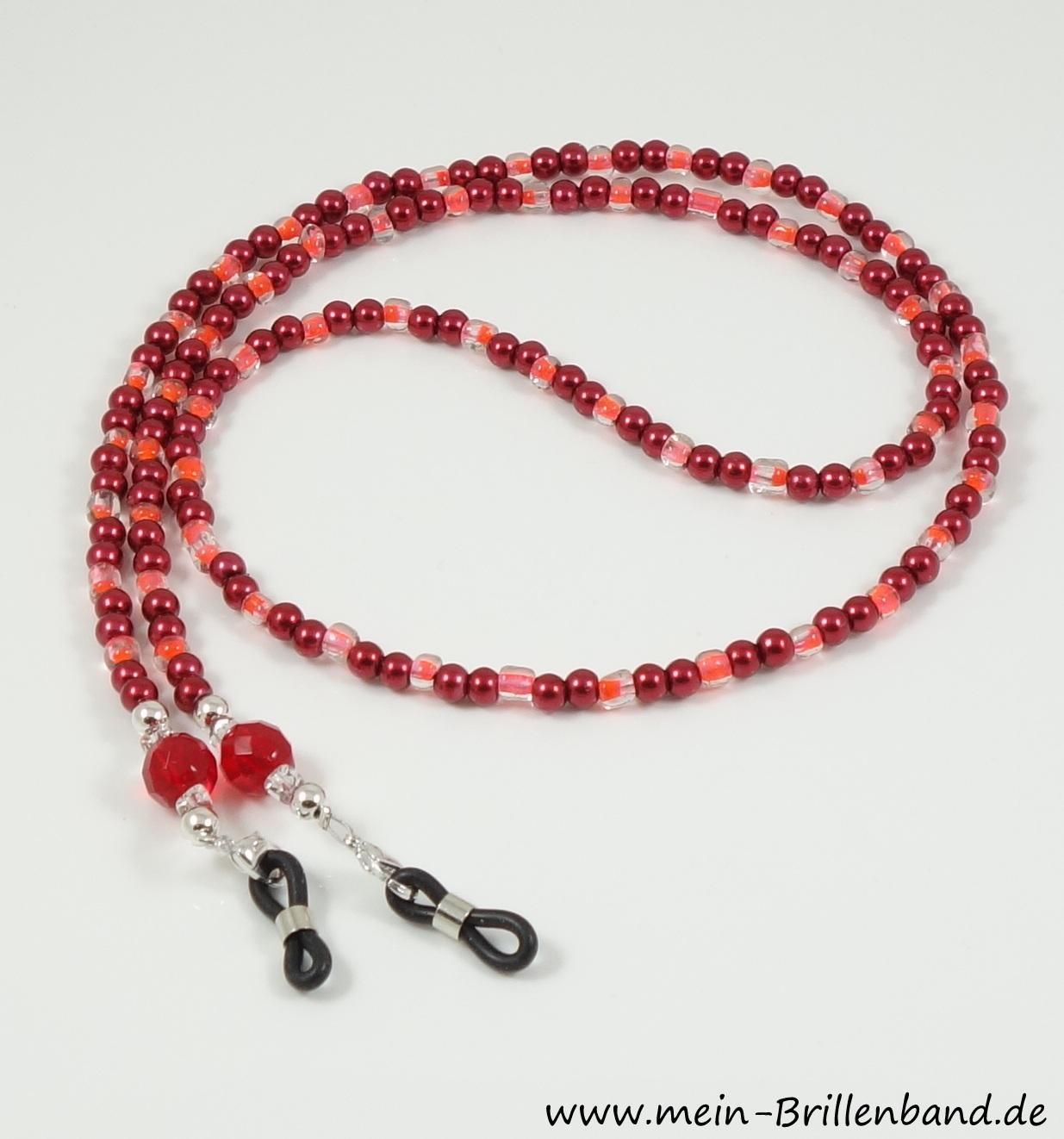 Brillenband rot