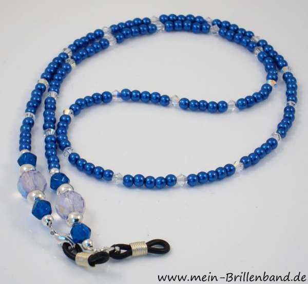 brillenband blau crystal. Black Bedroom Furniture Sets. Home Design Ideas